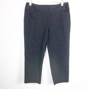 Worthington Black Wideband Ankle Crop Pants B13